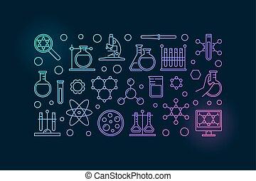 chemie, labor, abbildung