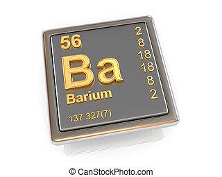 chemikálie, barium., element.