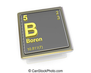 chemikálie, boron., element.