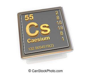 chemikálie, element., caesium.