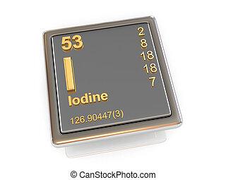 chemikálie, element., iodine.