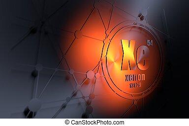 chemikálie, element., xenon