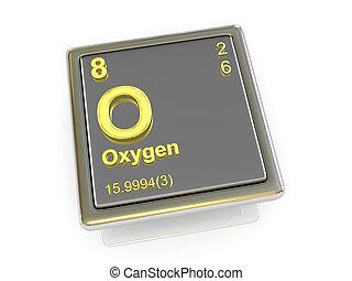 chemikálie, oxygen., element.