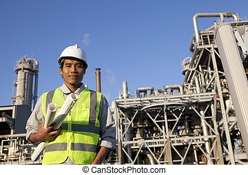 chemikálie, průmyslový, inženýr