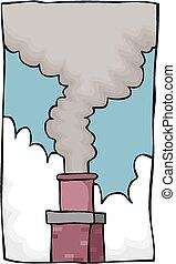 cheminée, fumée