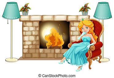 cheminée, princesse