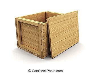chemin bois, coupure, crate., image