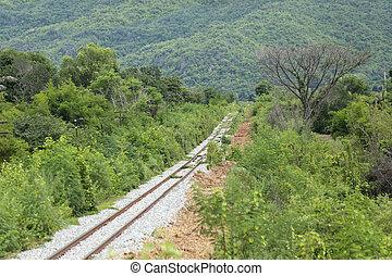chemin fer, countryside.