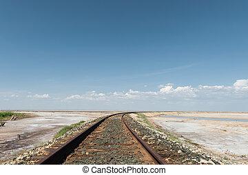 chemin fer, désert