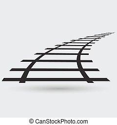 chemin fer, icône