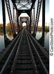 chemin fer, pont