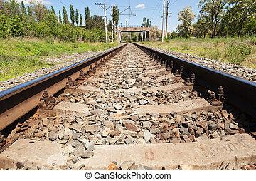 chemin fer, rails, trains