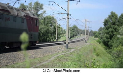 chemin fer, train, promenades, défaillance, temps