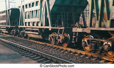 chemin fer, train, voyager, fret