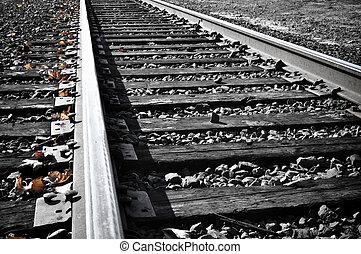 chemin fer traque, automne