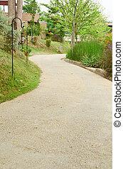 chemin, jardin