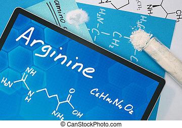 chemisch, formule, van, .