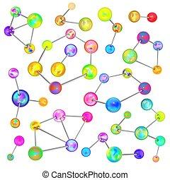 chemisch, groot, nucleair, set, banden, bouwwerken, anders, witte , helder