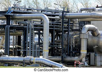 chemisch, industrie, industriebedrijven