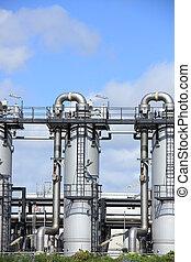 chemisch, industriebedrijven, industrie