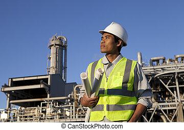 chemisch, industriebedrijven, ingenieur