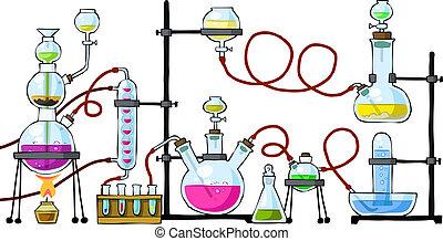 chemisch, laboratorium
