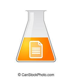 chemisch, laboratoriumglas, document