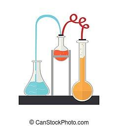 chemische , bild, versuch, freigestellt