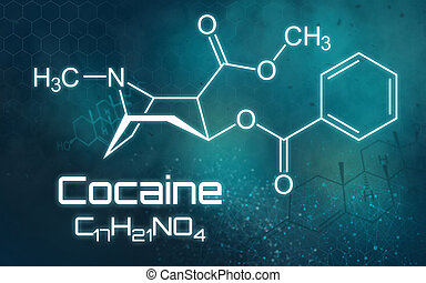 chemische , formel, kokain, zukunftsidee, hintergrund