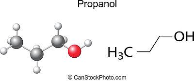chemische , formel, propanol