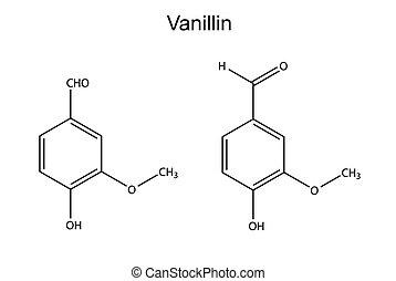 chemische , formel, vanillin