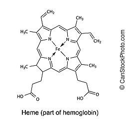 chemische , formel, von, heme