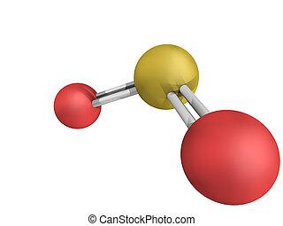 chemische , so2, dioxyd, dioxyd, schwefel, (sulphur,...