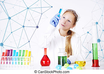 chemische , spezialist, wenig, laboratorium