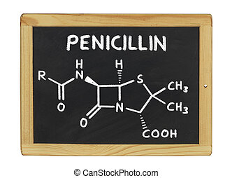 chemische , tafel, penicillin, formel