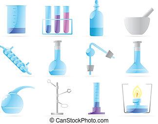 chemisches labor, heiligenbilder