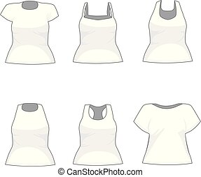 chemise blanche, collection, femmes