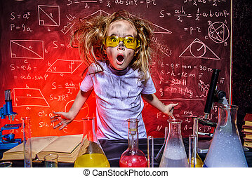 chemist girl in a lab