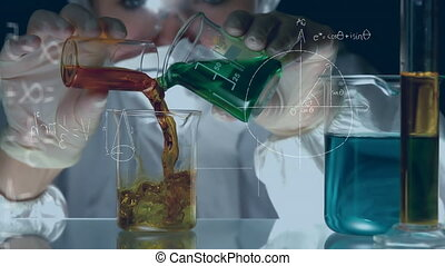Chemist mixing chemicals - Digital composite of a chemist ...