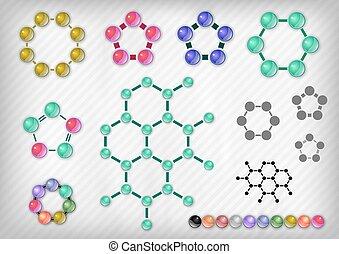 Chemist Set - Chemist elements on the grey background. ...