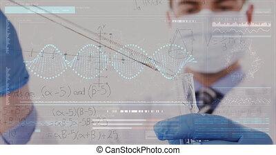 Chemist working at a lab 4k