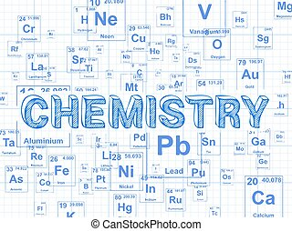 Chemistry Background Graph Paper - Chemistry word on...