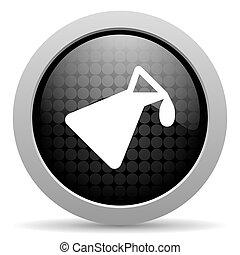 chemistry black circle web glossy icon