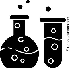 Chemistry black glyph icon