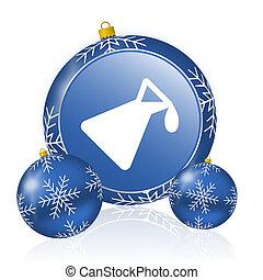 Chemistry blue christmas balls icon