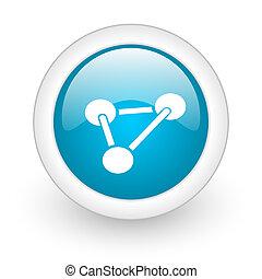 chemistry blue circle glossy web icon on white background