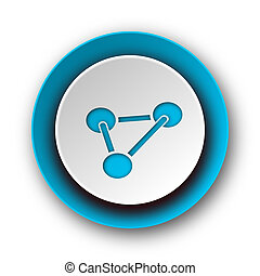 chemistry blue modern web icon on white background