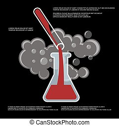 Chemistry, chemical experiment vector poster design