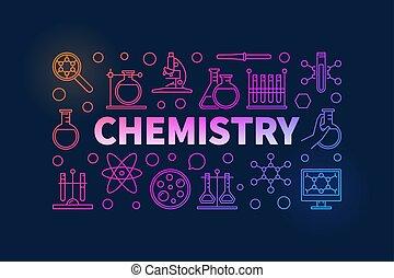 Chemistry colorful illustration