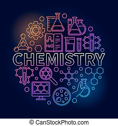 Chemistry colorful round illustration